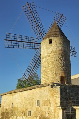 Ancient Mediterranean Windmill in Manacor (Majorca - Spain) photo