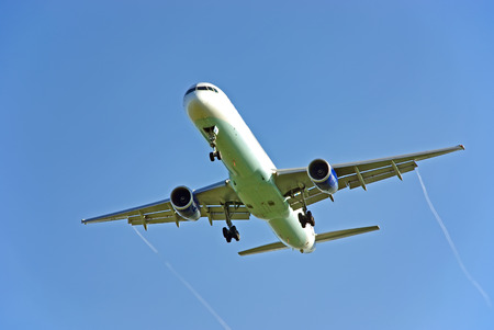 strips away: Passenger aircraft arriving to the airport