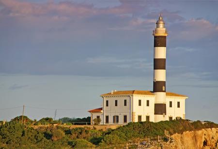 colom: Punta de ses Crestes lighthouse in Porto Colom  Majorca - Spain