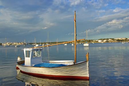 colom: Porto Colom bay in Majorca (Spain)