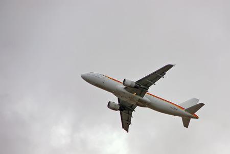 airscrew: Passenger aircraft taking off