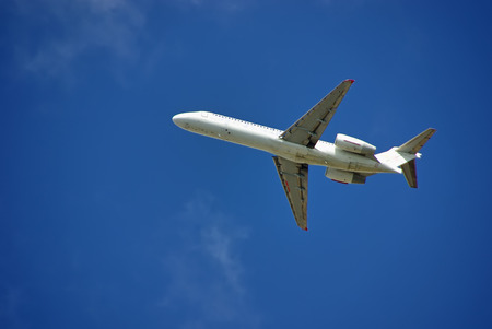 pilot wings: Passenger aircraft taking off from Majorca