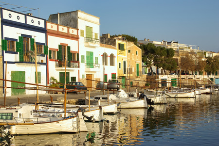 colom: Picturesque fishermen village in Porto Colom (Majorca - Balearic Islands - Spain)