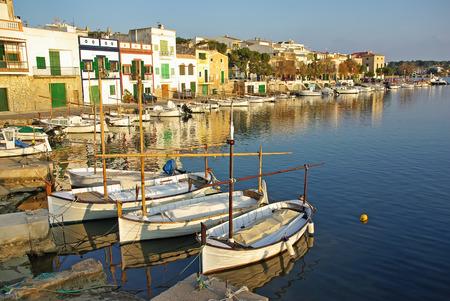 colom: Porto Colom pier in Majorca (Balearic Islands - Spain)