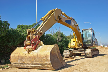 heavy industry: excavator heavy vehicle used in construction industry