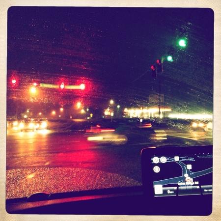 rote ampel: Rotes Licht bei Verkehrskontrolle Lizenzfreie Bilder