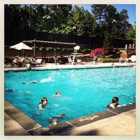 suburban neighborhood: Suburban neighborhood pool