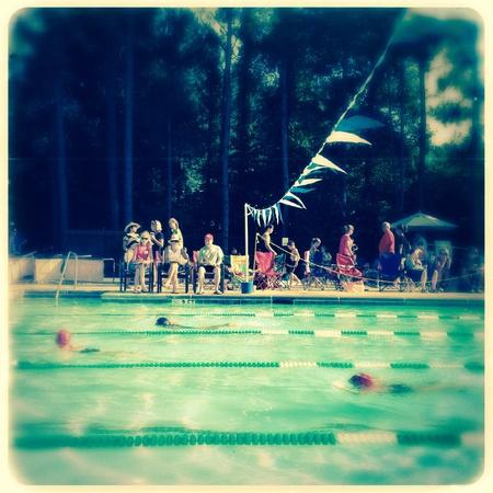 the deep south: Neighborhood swim meet in alpharetta , Georgia USA