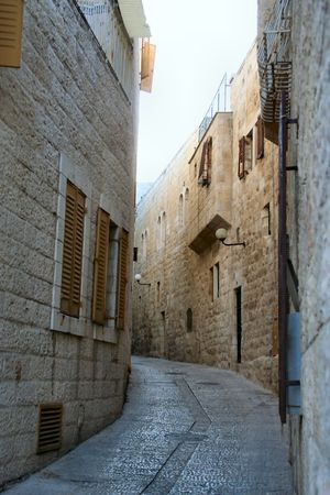 A street in the old city, Jerusalem photo
