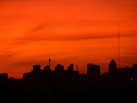SUNSET IN BUENOS AIRES ARGENTINA