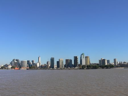 DOWNTOWN BUENOS AIRES Stock Photo