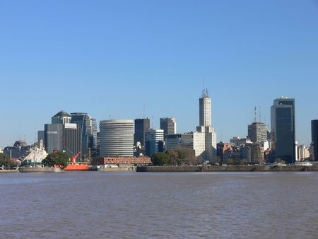 DOWNTOWN BUENOS AIRES FROM THE RIVER photo