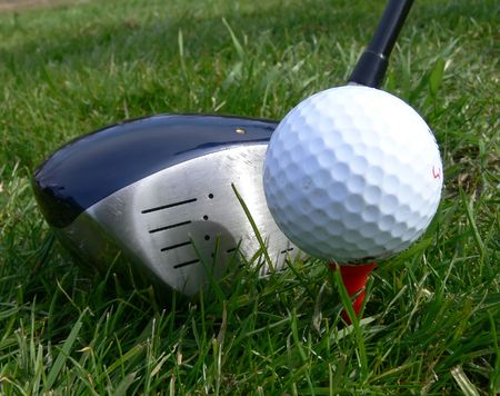 GOLF BALL AND CLUB Stock Photo - 499739