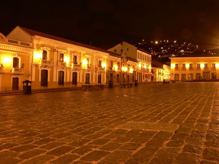 QUITO HISTORICAL PLAZA Stock Photo