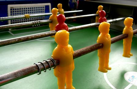 TABLE SOCCER Stock Photo