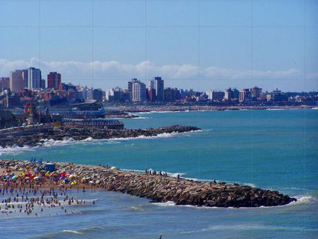 MAR DEL PLATA CITY AND BEACHES Stock Photo