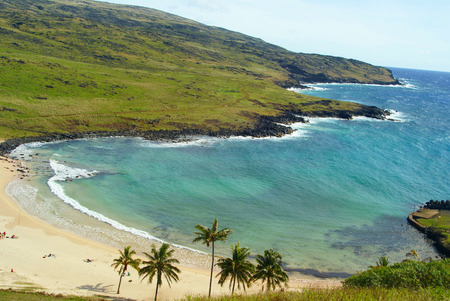 Anekena beach in Easter Island