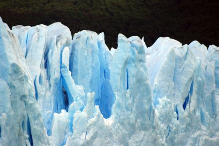 icescape: Nice forms and crevices of a glacier
