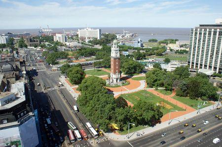 The English tower and the Retiro Plaza