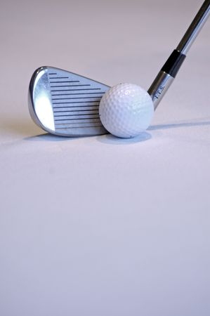 chip and pin: Golf Club and Ball