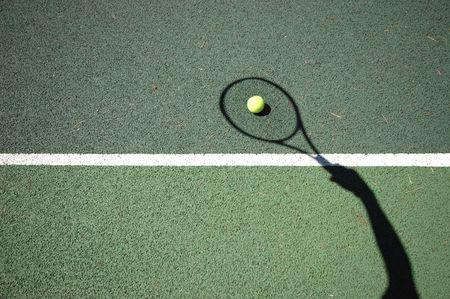 backhand: Tenis Shot  Foto de archivo