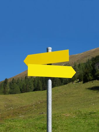 Wanderers Sign in the Austrian Alps Stock Photo - 530278