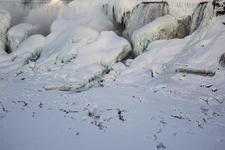 icescape: Winter photo of the American Falls, Niagara Falls, NY.