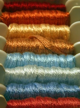 muted: Embroidery thread in muted hues