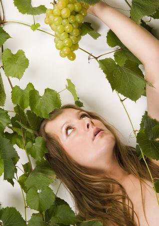 cheastm breast: Beautiful green grape
