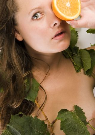 cheastm breast: Woman Stock Photo