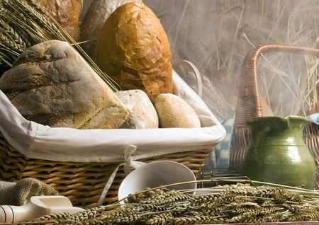 Bread mix in smoke Stock Photo - 786812