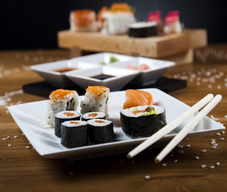 Traditioneel Japans eten, Sushi photo