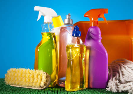 cleaning background: House cleaning product