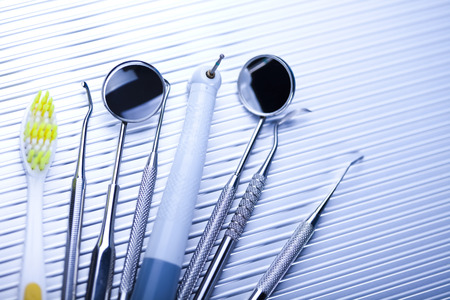 gripper: Close-up Dental Instruments Stock Photo