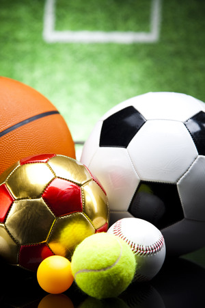 Sport equipment and balls photo