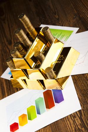 lingote de oro: Pila de lingote de oro