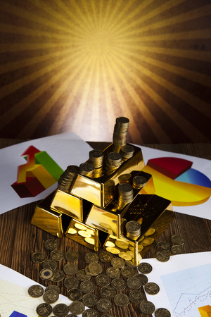 Gold Pyramid and sunshine photo