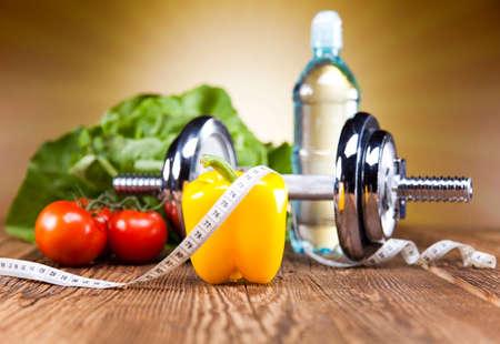 fitnes: Dieet en fitness Stockfoto
