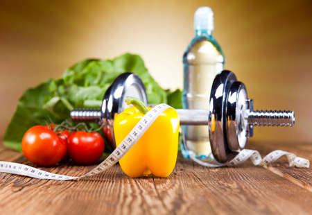 diet concept: Diet and fitness