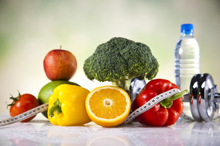 Healthy lifestyle concept, Diet and fitness  photo