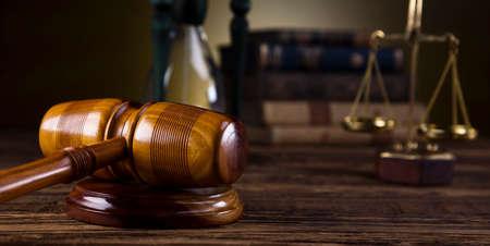 Justice Scale und Gavel