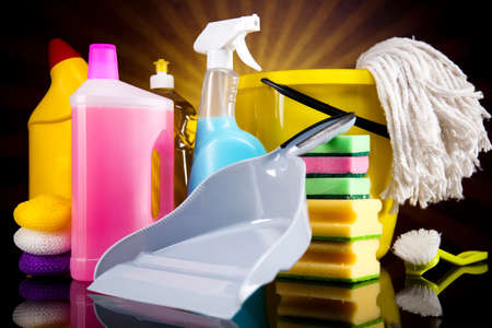 house chores: Cleaning products