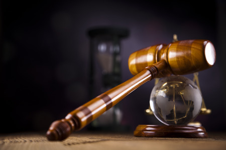 Gavel and globe photo