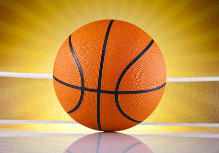 Basketball ball, sunshine photo