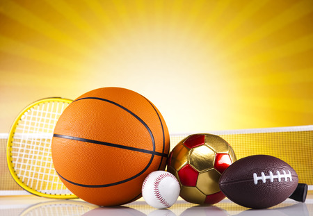 Sports Equipment and sunshine photo