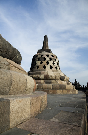 Borobudur, ancient buddhist temple,  Indonesia photo