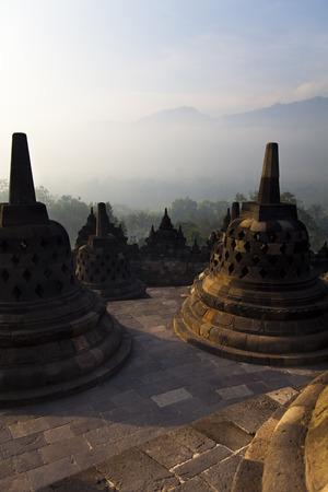 jogjakarta: Borobudur, ancient buddhist temple,  Indonesia