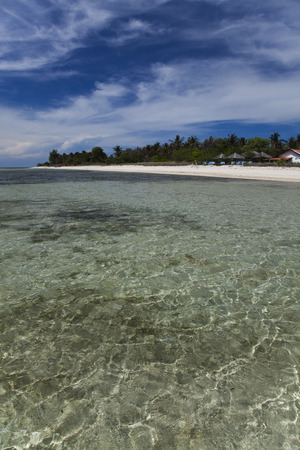 Sea and coastlines of Gili Air, Indonesia photo