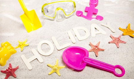 Holiday beach background photo