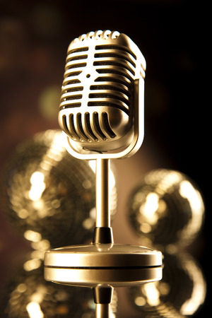 Microphone, Disco Ball  photo